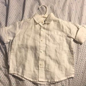 12-18M Janie and Jack linen shirt
